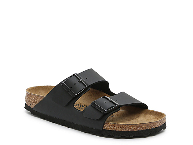 The women\\\'s Birkenstock Arizona flat sandal is legendary and speaks for itself in comfort. These classic slide sandals feature a contoured footbed and shock resistant EVA sole that is flexible and durable.