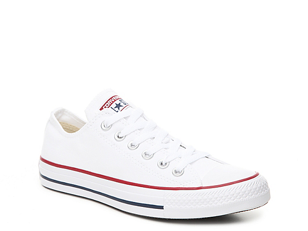 The retro styling of the low-top women\\\'s white Converse Chuck Taylor All Star sneaker will never go out of style. Incorporate this classic shoe into your casual wardrobe and make it your own.