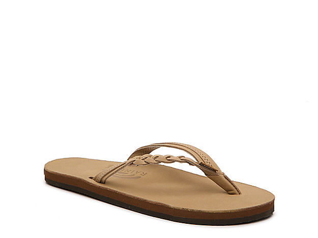 You will live in this leather flat sandal this summer! The Rainbow Flirty Braidy thong sandal is the perfect flip flop for lounging around or running errands this season!