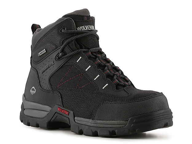 <p>Wolverine is a leader when it comes to comfort technology in work and safety shoes, and that is exactly what you will find in the Amphibian boot. This lace-up boot features a Wolverine CarbonMAX® toe which is as strong as steel, but half the weight and a Gore-Tex® breathable waterproof membrane lining to keep your feet comfortable and protected.</p>