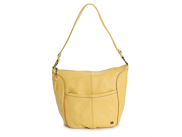 Keep your look playful with the Iris shoulder bag from The Sak. This leather handbag comes with plenty of interior space to keep your essentials secure wherever you go!