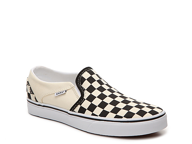 The women\\\'s Vans Asher sneaker is perfect for the skate park or a casual day around town. Slip on these checker print low-top skate shoes and show off your urban street style.