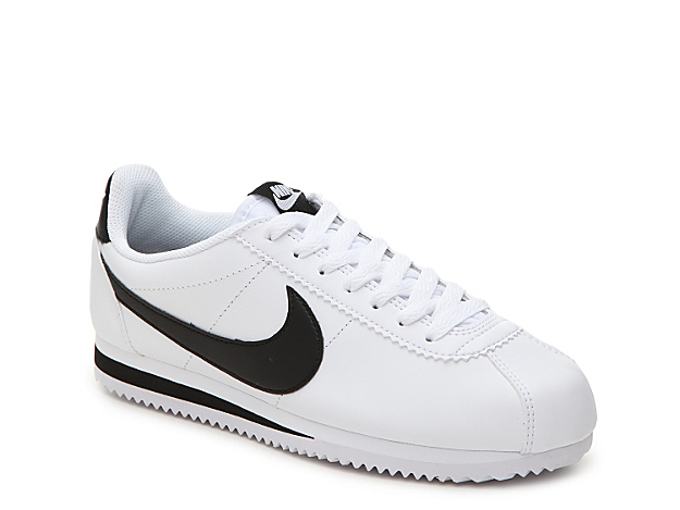 Give off an athleisure vibe in the women\\\'s Classic Cortez sneaker from Nike. With a smooth leather design and cushioned footbed, you\\\'re sure to stay comfy and cool all-day long.