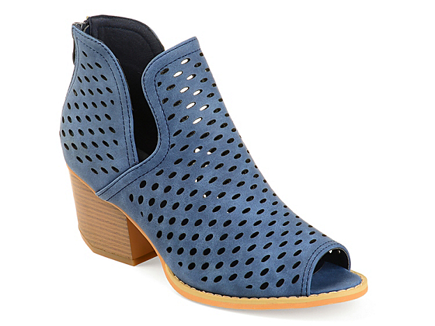 The Alaric bootie from Journee Collection exudes trendy chic style. Laser cut detailing and a split topline will upgrade any outfit.