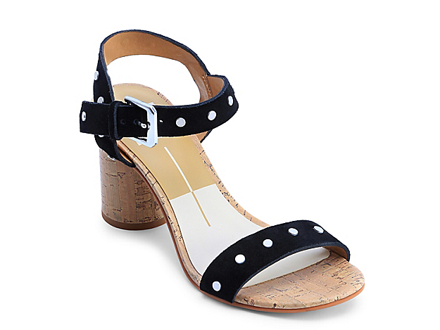 Grant a glowy touch to your ensemble with the Jalina dress sandal from Dolce Vita. Graced with a cylindrical cork heel, this pair flaunts gorgeous studs on its strappy profile that spruces up the charm of any outfit.