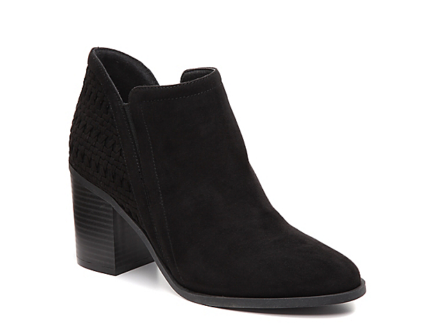 Accentuate your best ensembles with the Chayene bootie from Madden Girl. Woven detailing wraps around the heel of these western ankle boots.