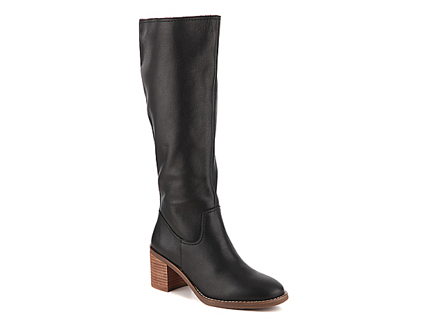 Give your ensemble limitless styling options with the Daytona boot from Crown Vintage. This leather pair is fashioned with a stacked heel that will go great with anything from jeans to miniskirts!