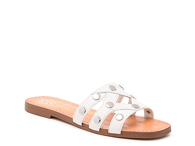 Vince Camuto brings you the Vazista sandal for daylong fashion. This slip-on is fashioned with circular stud accents for extra appeal!