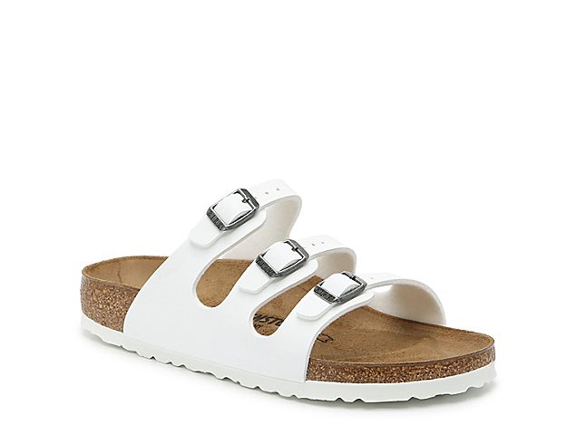 Signature style comes in ease in the women\\\'s Florida sandal from Birkenstock. This pair features a contoured footbed for superior comfort and adjustable straps for a custom fit.