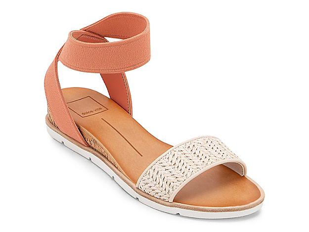Refresh your warm weather wardrobe with the Vivian wedge sandal from Dolce Vita. With playful prints and colors and a slim cork wedge heel, this pair keeps you ahead of the fashion curve.