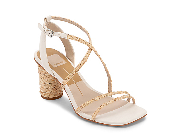 Your warm-weather season just got a whole lot better with the Nico sandal from Dolce Vita. The squared off toe and raffia-covered heel makes your ensemble feel fabulous!