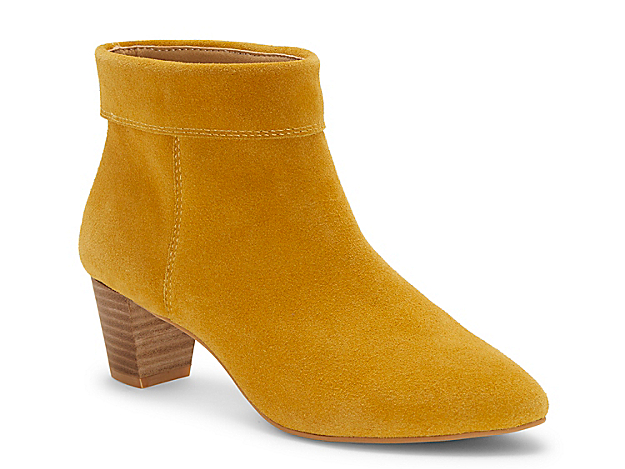Folded at the ankle for a cuffed and polished appearance, the Zaprika booties from Lucky Brand seamlessly fit into your classic collection. A low block heel provides a boost without compromising all-day comfort.Click here for Boot Measuring Guide.