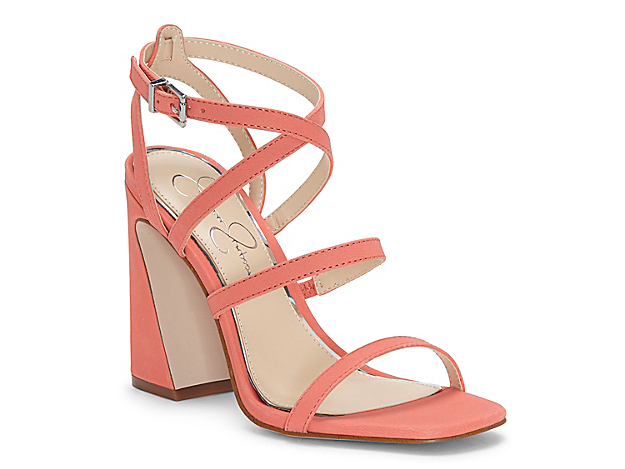 Give your ensemble the right amount of style with the Raymie sandal from Jessica Simpson. This silhouette is fashioned with a smooth leather upper and a flared block heel for extra trend points!