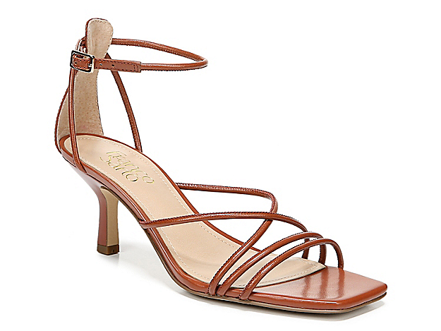 The Mia sandal from Franco Sarto flaunts a nostalgic nod with its strappy leather upper, kitten heel, and squared off toe. This timeless pair will complement anything from boyfriend jeans to slip dresses.
