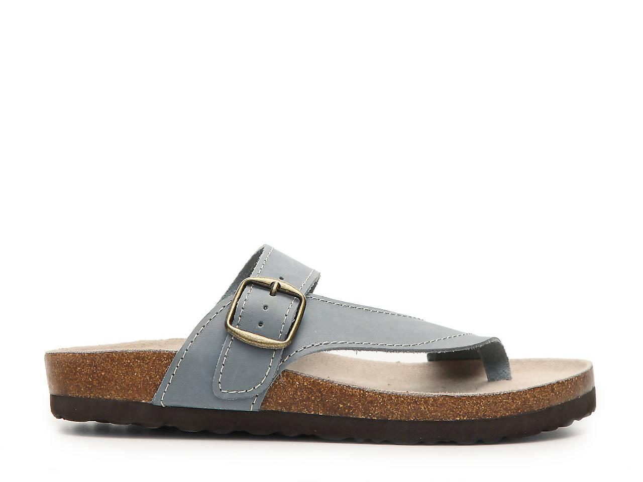 White Mountain Carly Nubuck Flat Sandal Women S Shoes Dsw