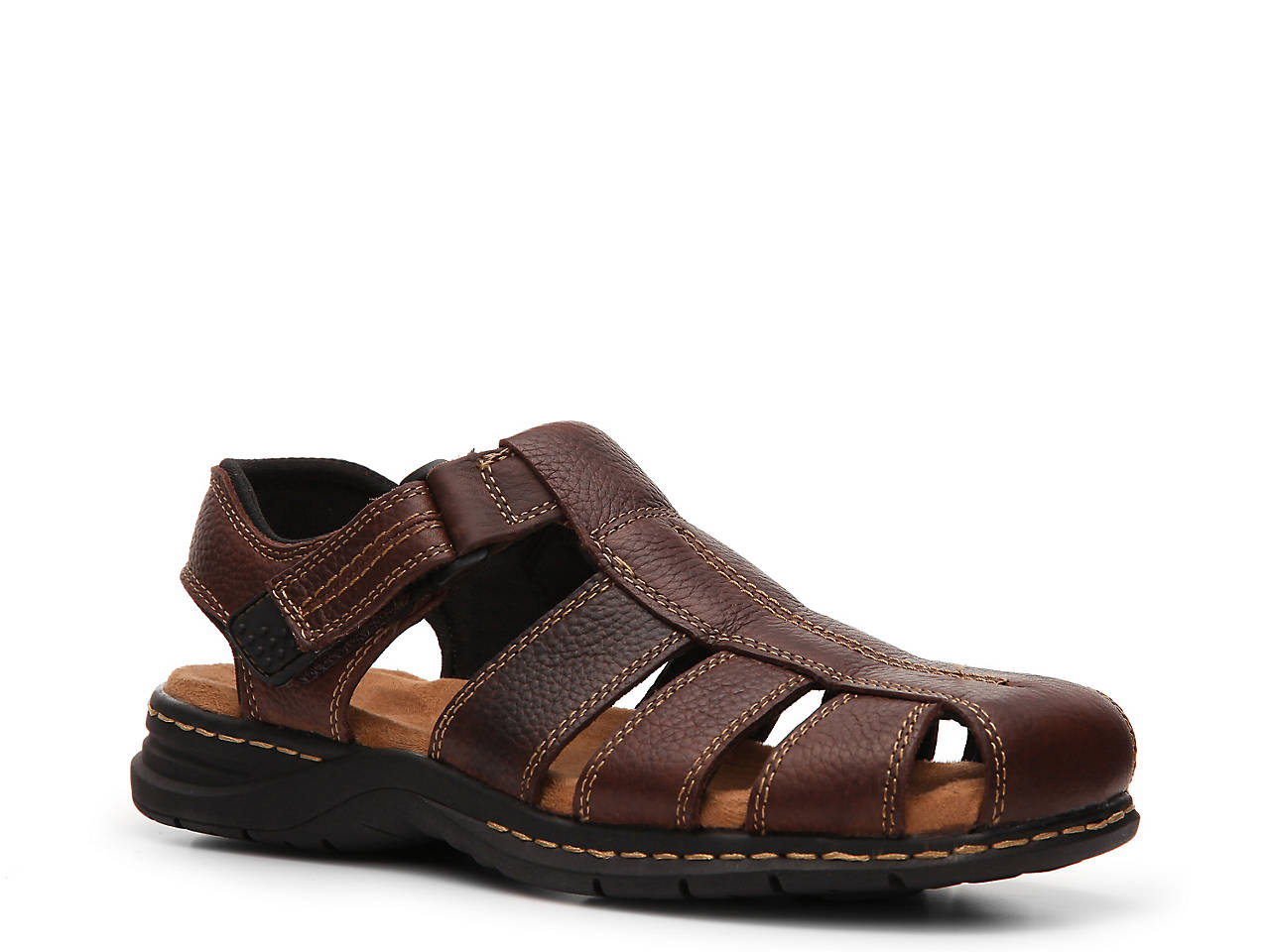 Brown Leather Mens Sandals Dsw Shoes