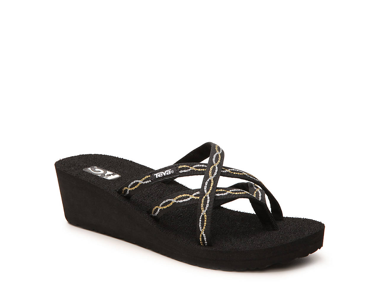 1a8f9b957d3a Teva New Mandalyn Ola Chain-link Wedge Sandal Women s Shoes