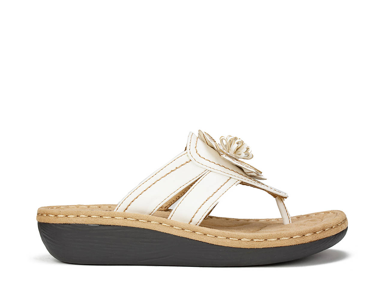 2cd4a0683 Cliffs by White Mountain Carnation Wedge Sandal Women s Shoes