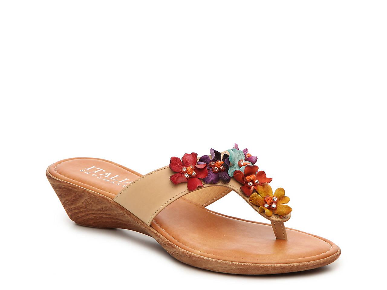 8e79ca3b39b8 Italian Shoemakers Giggle Wedge Sandal Women s Shoes