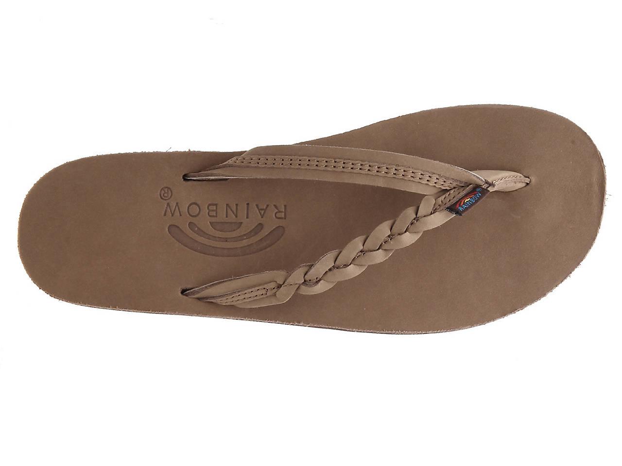 Rainbow Flirty Braidy Flip Flop Women s Shoes  938cd8c4caf7