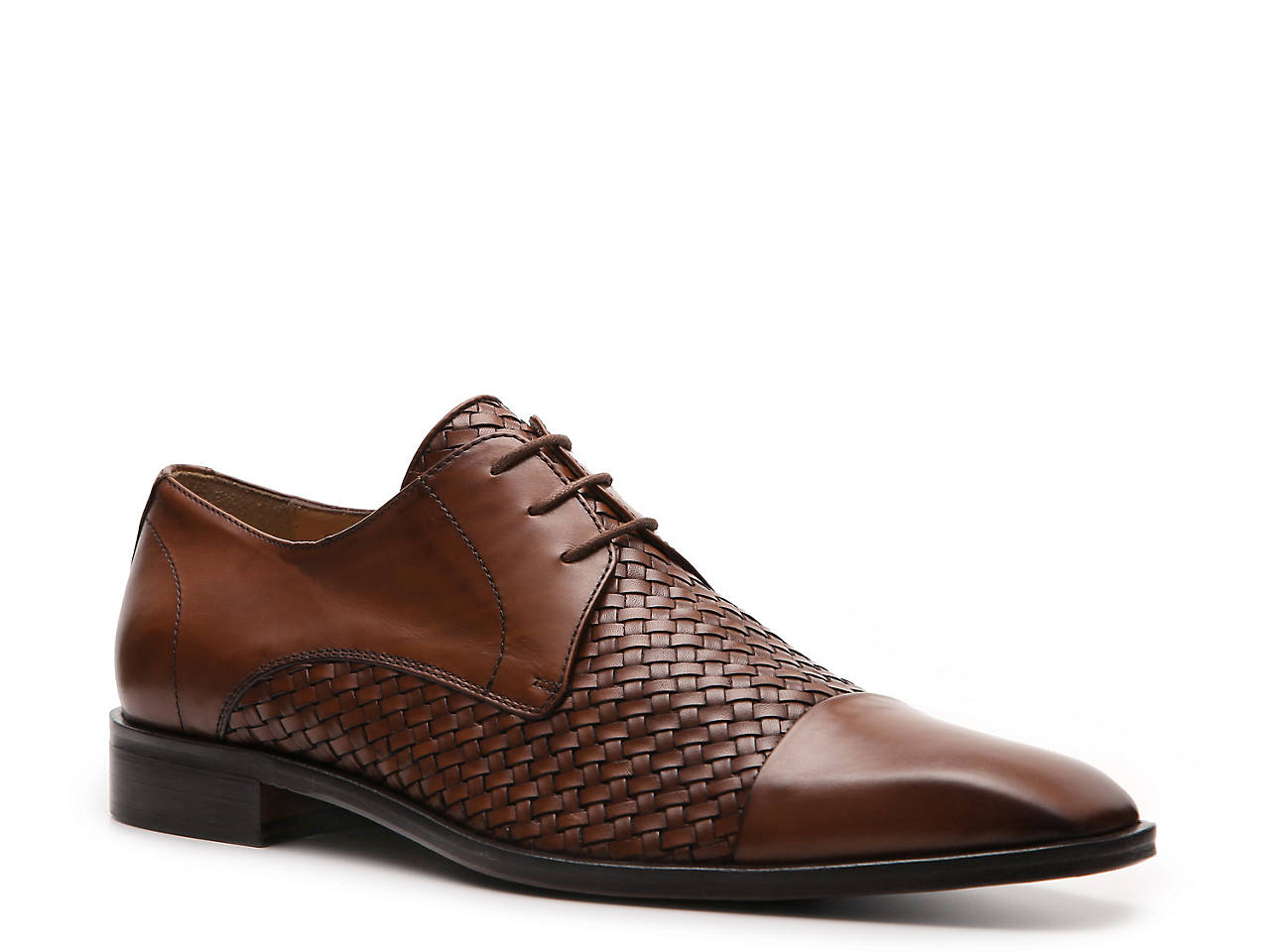 fd726ee237c Mercanti Fiorentini Woven Cap Toe Oxford Men s Shoes