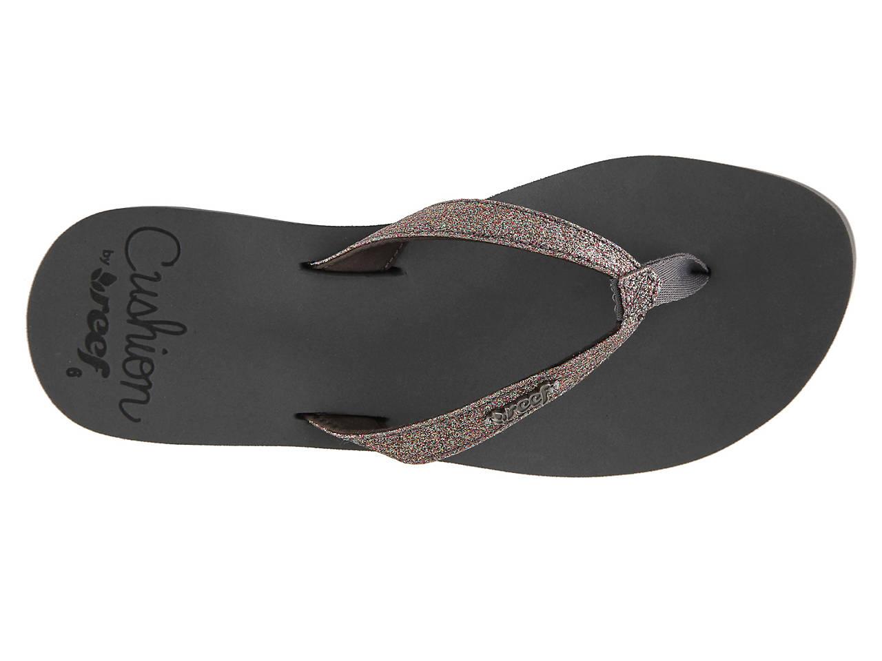 03116eaba88aa Reef Star Cushion Glitter Flip Flop Women s Shoes