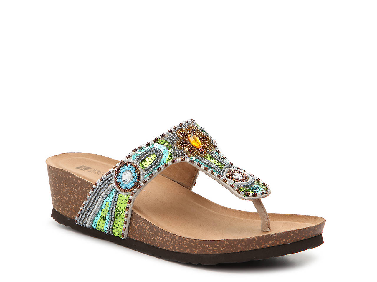 White Mountain Blue Jay Wedge Sandal Women S Shoes Dsw