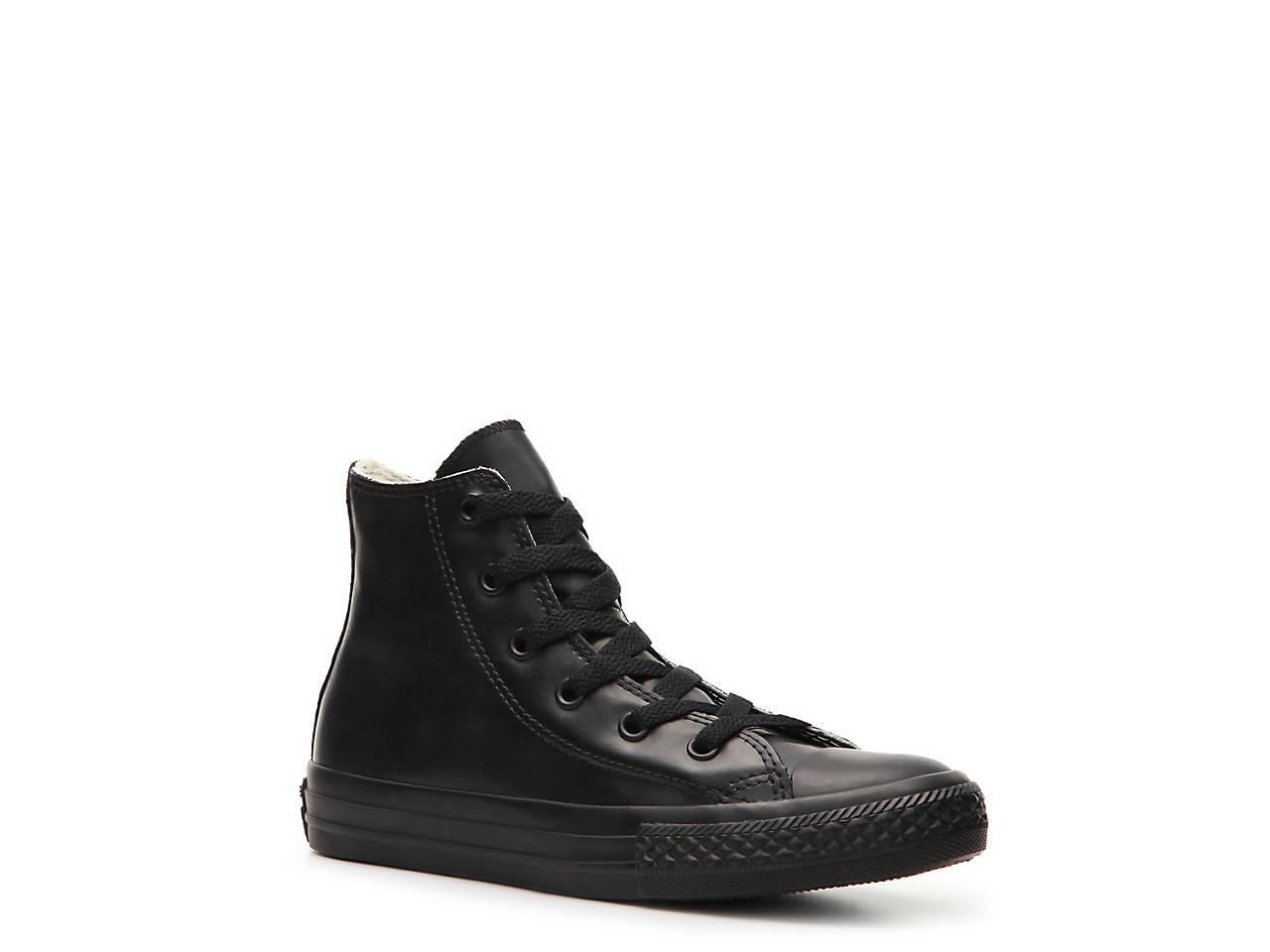 Converse Infant Chuck Taylor All Star High Street Hi Fashion Sneaker Shoe, Black, 10