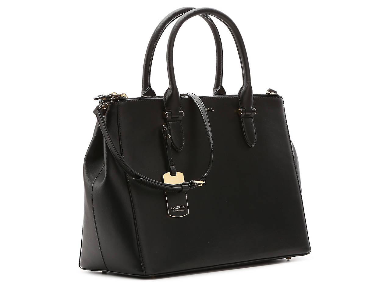 831da61b55cb Lauren Ralph Lauren Winford Leather Satchel Women s Handbags ...