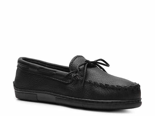 Loafers & Slip-Ons Men Minnetonka Classic Moosehide Loafer Black Fashion Style