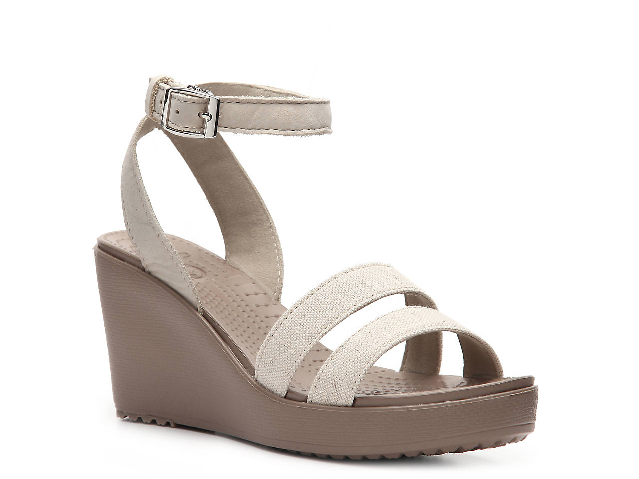 800e840d461285 Crocs Leigh Wedge Sandal Women s Shoes