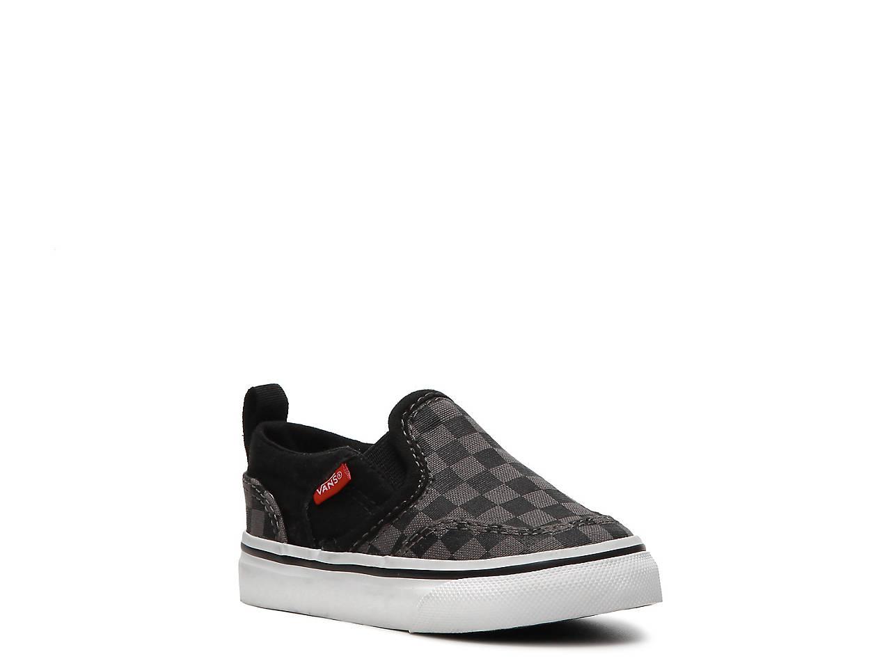 8cd584c0dd9bda Vans Asher Infant   Toddler Slip-On Sneaker Kids Shoes