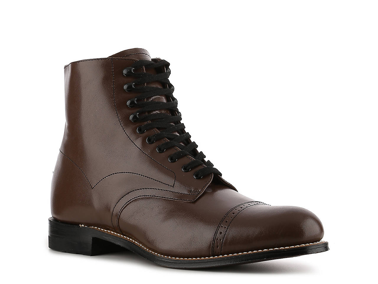Hedendaags Stacy Adams Madison Cap Toe Boot Men's Shoes | DSW QX-27