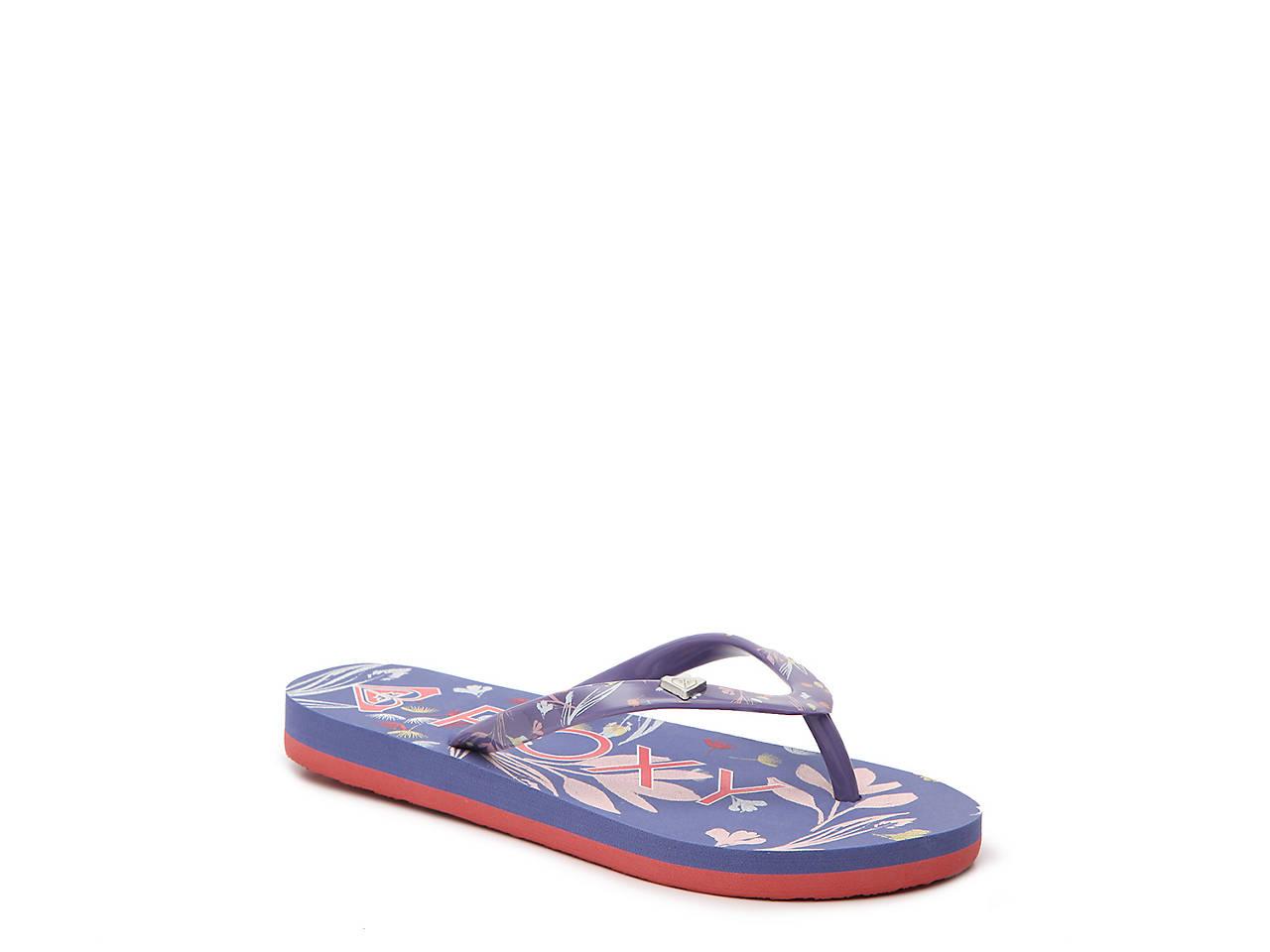 0dd5f71ea7c Roxy Pebbles Toddler   Youth Flip Flop Kids Shoes
