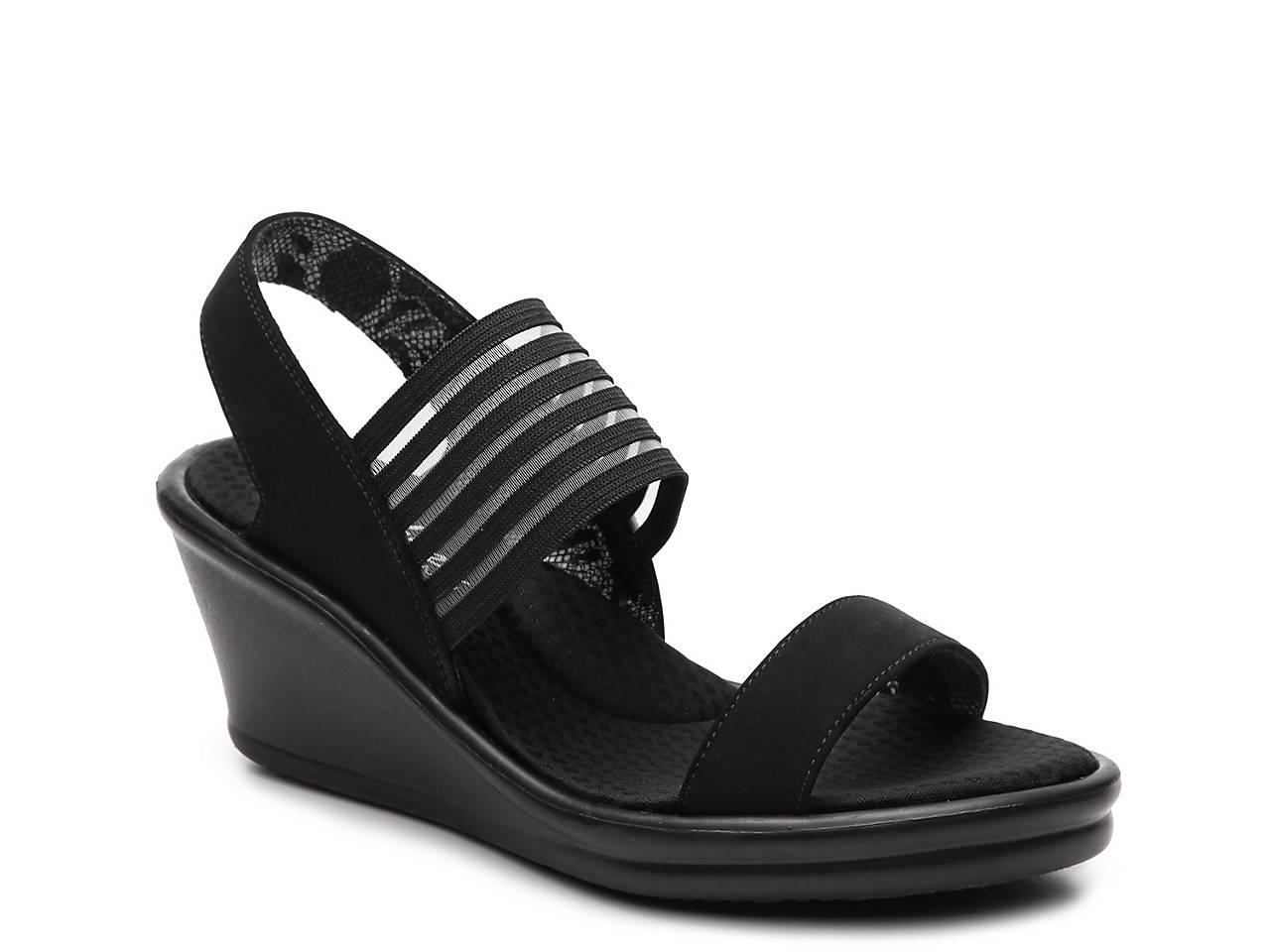 Skechers Cali Sci-Fi Wedge Sandal Women's Shoes | DSW