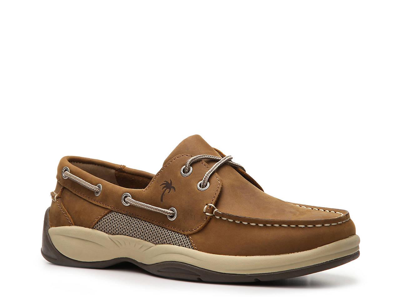 Margaritaville Boat Shoe Beige Tan Angler Mens