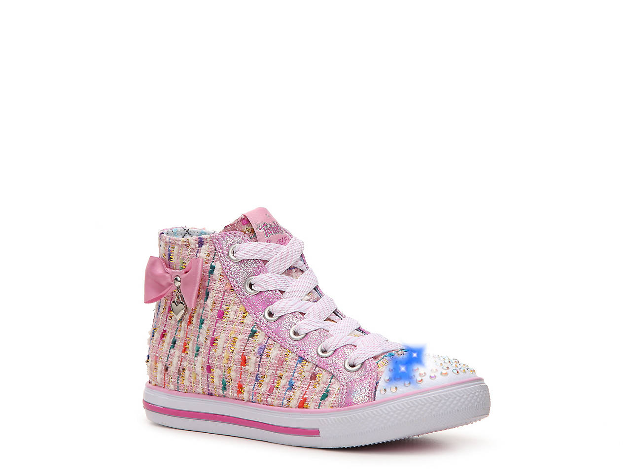 skechers twinkle toes light up. twinkle toes chit chat toddler \u0026 youth light-up high-top sneaker skechers light up