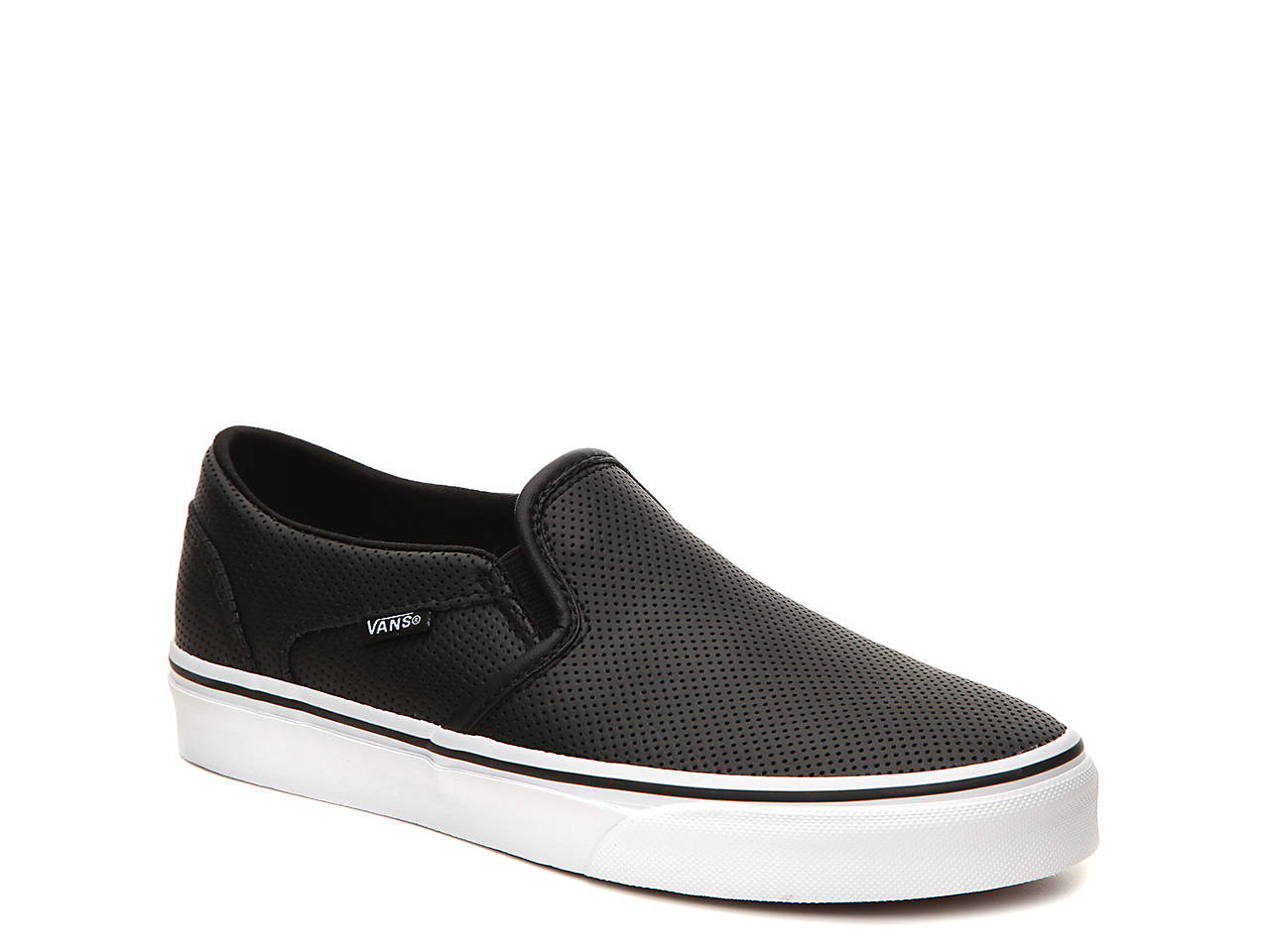 asher women The vans women's asher shoes have leather uppers and vulcanized waffle outsoles.