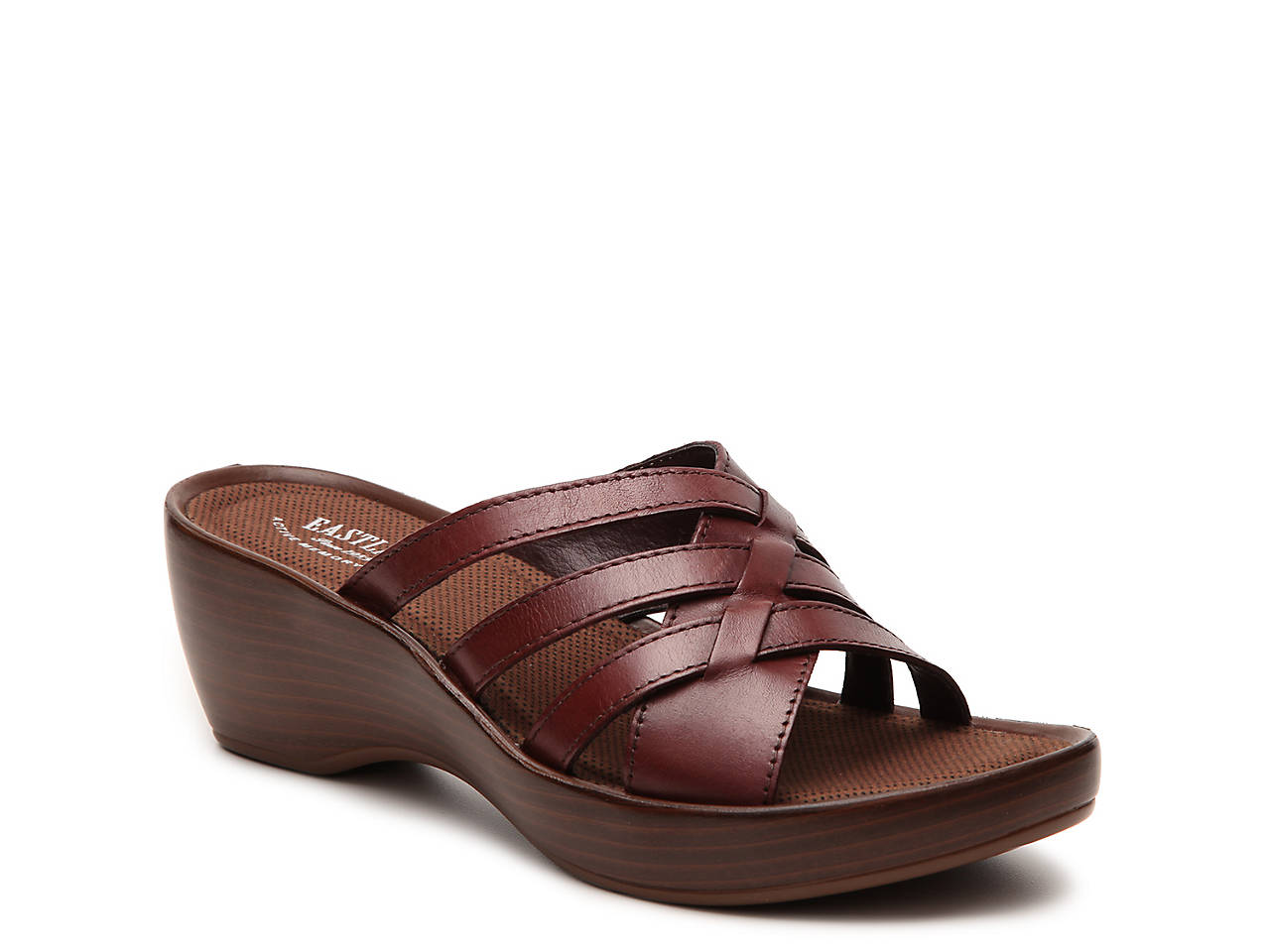 free shipping professional clearance supply Eastland Leather Slide Sandals - Poppy cheap price discount authentic 7HQdye69