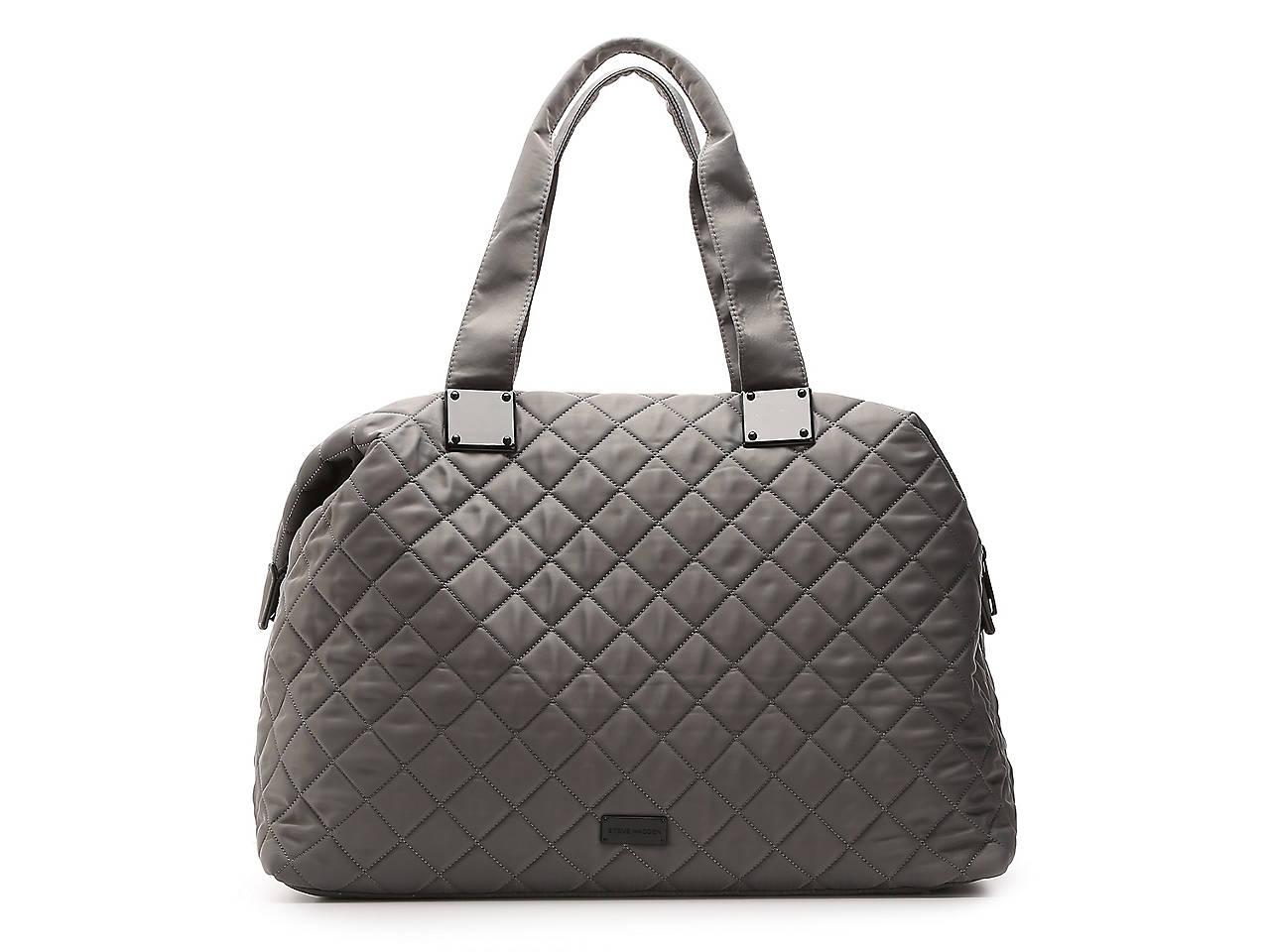 34500595935 Steve Madden Quilted Weekender Bag Women s Handbags   Accessories
