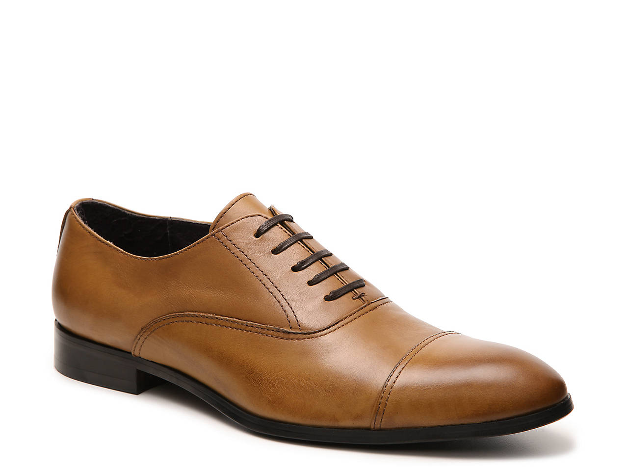 Bacco Bucci Black Brewer Cap Toe Oxford Mens