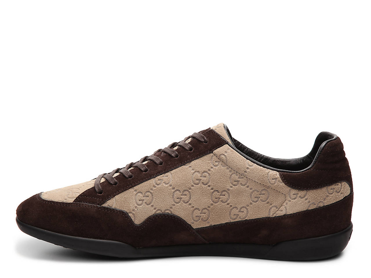fc5649afbed4 Gucci - Fragrance Final Sale - Canvas   Suede GG Sneaker Men s Shoes ...