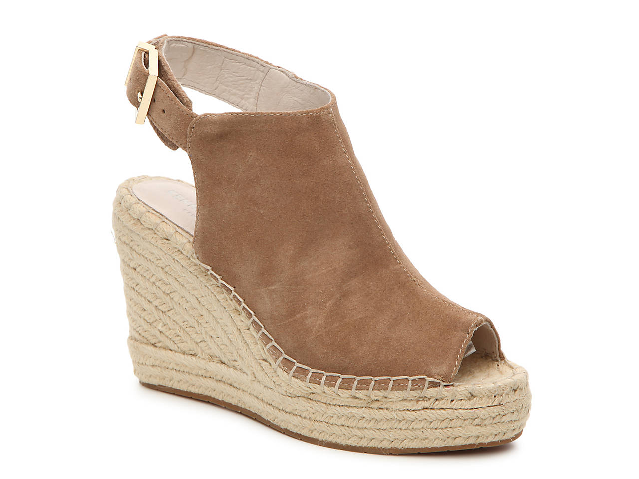 c0c9ddf435d Kenneth Cole New York Olivia Suede Wedge Sandal Women s Shoes