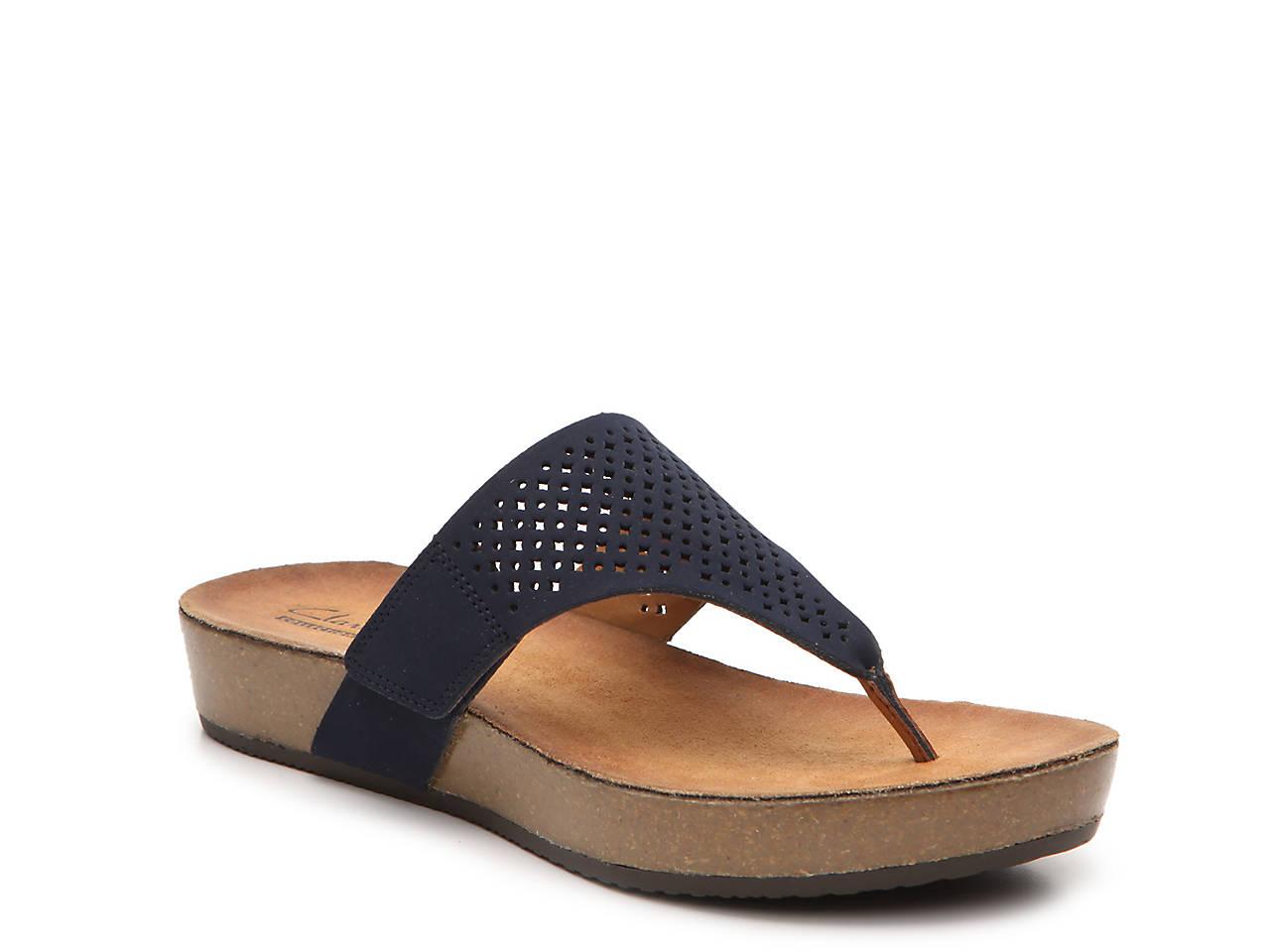 ed06f2486fe0 Clarks Aeron Logan Wedge Sandal Women s Shoes