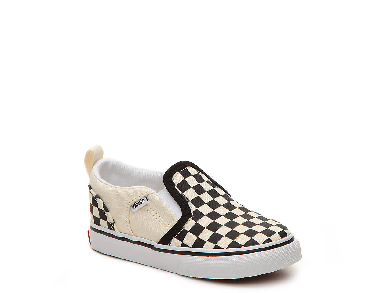 6679bc81652de6 Vans Asher Checkers Infant   Toddler Slip-On Sneaker Kids Shoes