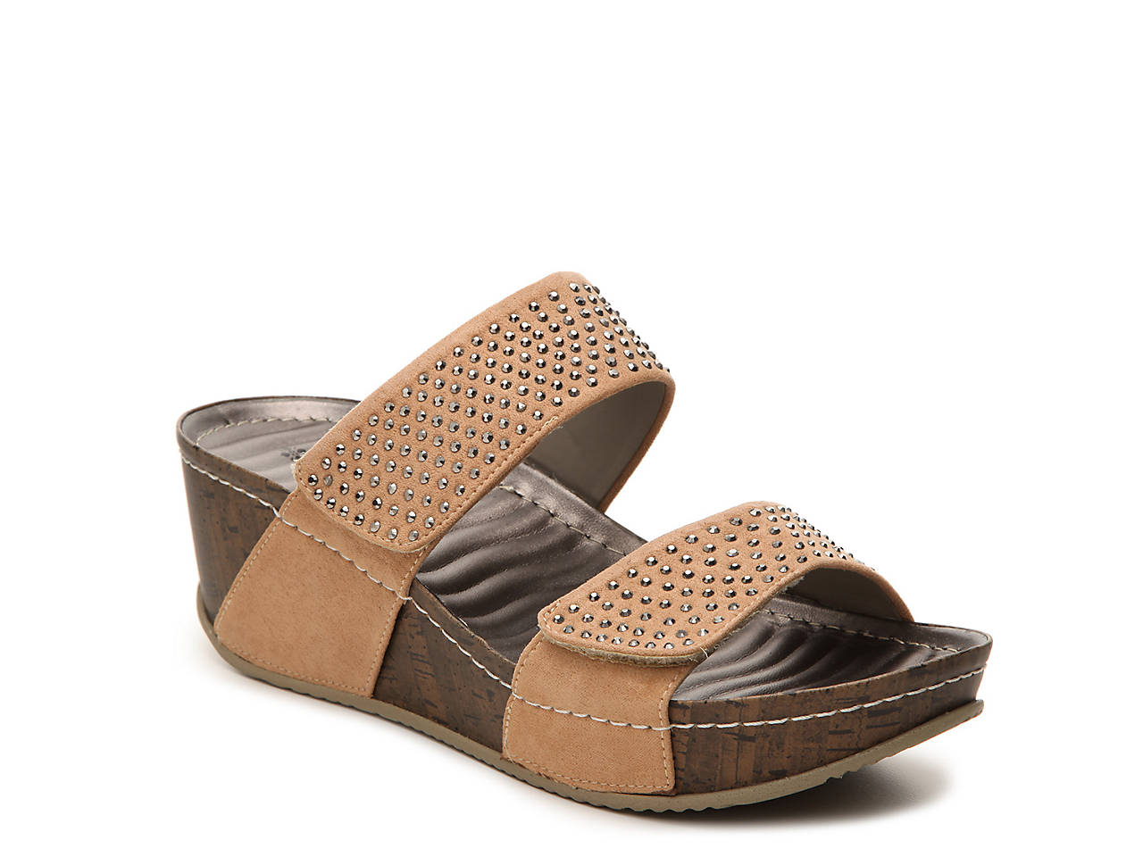 fbe99d22b61b Patrizia by Spring Step Delphine Wedge Sandal Women s Shoes