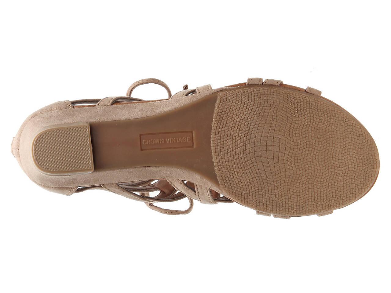 f1d33b526d1 Crown Vintage Sarah Wedge Gladiator Sandal Women s Shoes