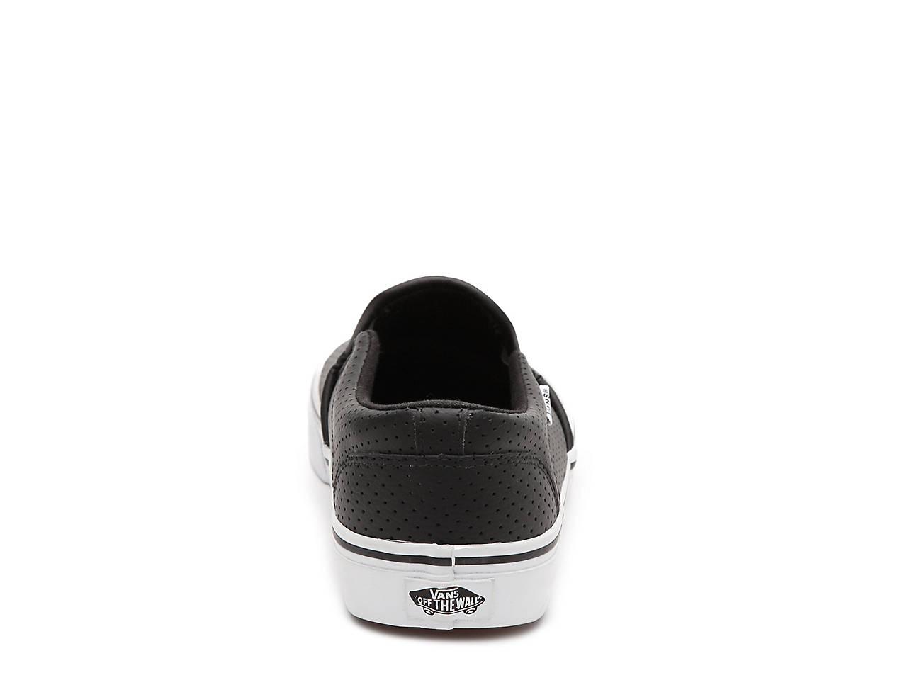 Mens Black Leather Vans Shoes Dsw
