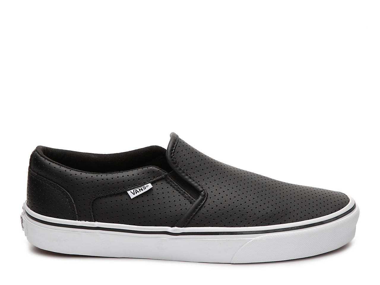 Vans Asher Perforated Leather Slip-On Sneaker - Men s Men s Shoes  adb0b07a120f