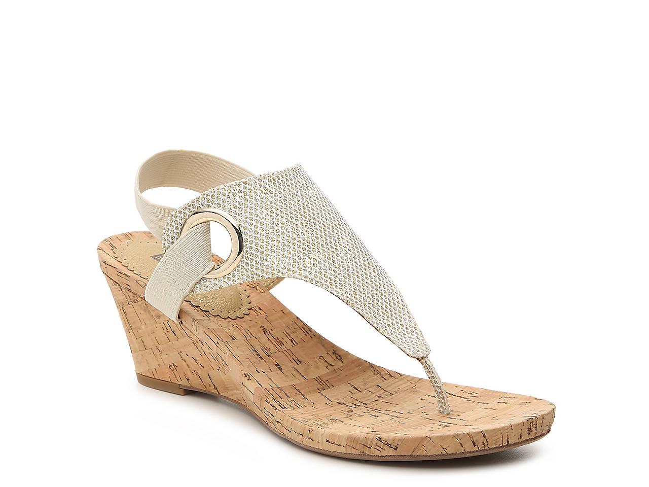 c92f64018286e White Mountain Aida Wedge Sandal Women's Shoes   DSW